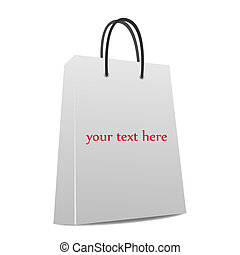 Image of a bag with editable text.