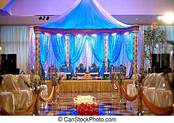 Image of a beautiful Indian wedding mandap