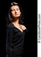 image of a beautiful woman shot in studio
