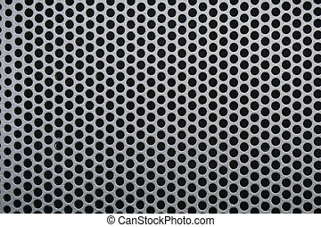 Image of a black steel grill metal texture
