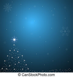 Image of a blue Christmas background scene.