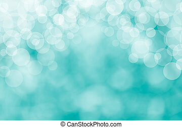 Image of a bright blue bokeh background