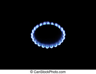 Image of a burning natural gas