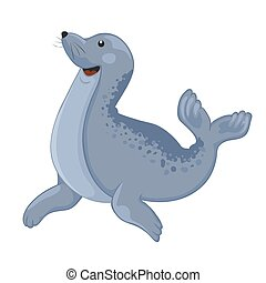 Image of a cartoon smiling seal