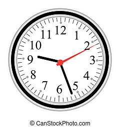 Image of a clock isolated on a white background.