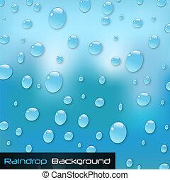 Image of a colorful blue raindrop background.