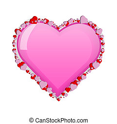 Image of a colorful heart design isolated on a white background.