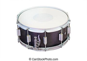 image of a drum under a white background