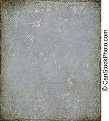 Faded Blue Grunge Plaster with Burnt Frame - Image of a...