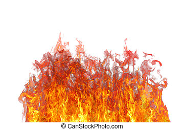 Fire flame with smoke.