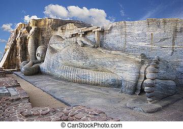 Gal Vihara, Polonnaruwa, Sri Lanka - Image of a giant Buddha...