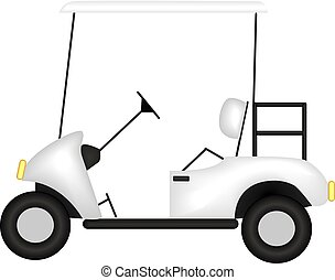 image of a golf car