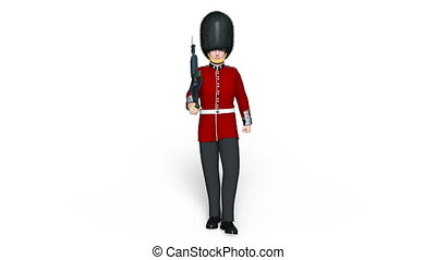 Image of a guards division man.