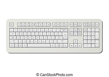 Image of a keyboard isolated on a white background.