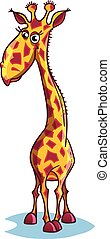 Image of a sad cartoon giraffe.