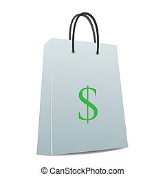 Image of a shopping bag with a dollar sign.