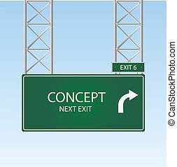 "Concept - Image of a sign with a ""Concept"" exit."