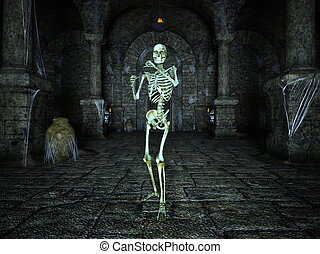 skeleton - Image of a skeleton and remains