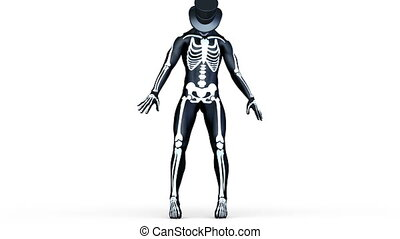 skeleton costume man