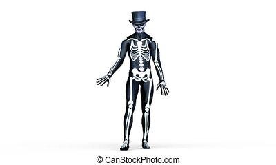 skeleton costume man