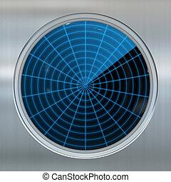 sonar or radar screen - image of a sonar or radar screen