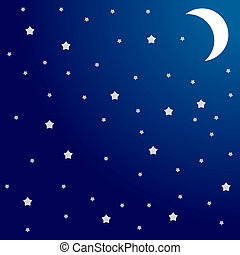 image of a starry sky and moon