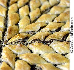 Turkish Ramadan Dessert Baklava with walnuts