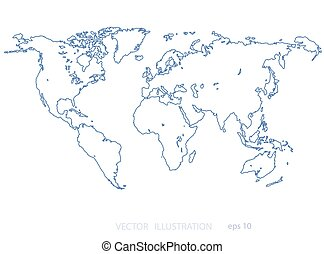 world map - Image of a vector world map