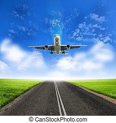 Image of a white passenger plane