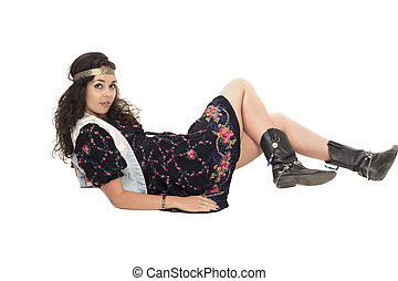 Image of a young hippie girl