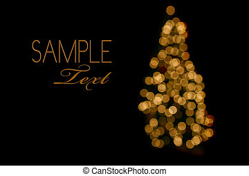 Abstract Christmas Tree Lights