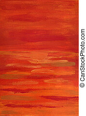 image of abstract red painting