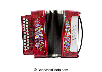 accordion - Image of accordion under the white background
