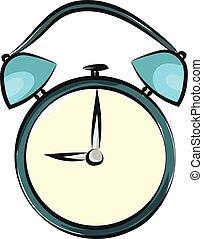 Image of alarm clock, vector or color illustration.
