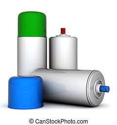 aluminum spray cans