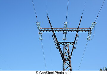 an Electric power transmission towers