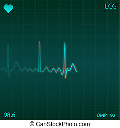 Image of an electronic heart monitor.