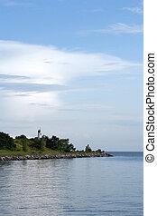 island on the sea