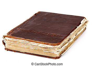 Image of an old book, isolated on a white background