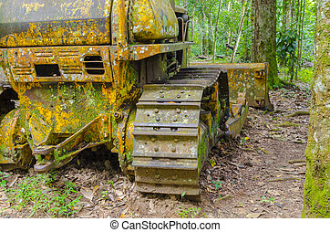 Image of an old tractor.