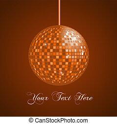 Image of an orange disco ball background.