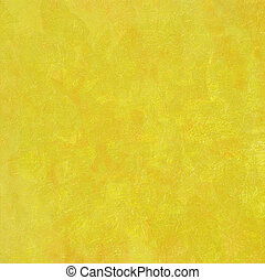 Yellow marbled highly textured background - Image of an...