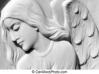 image of  angelic relief on italian cemetery
