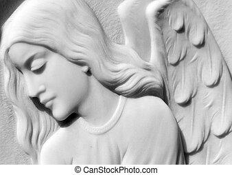 image of  angelic relief on italian cemetery