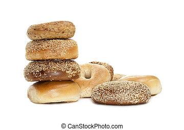 assorted yummy bagels