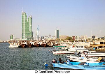 Image of Bahrain's capital city, Manama, Bahrain.