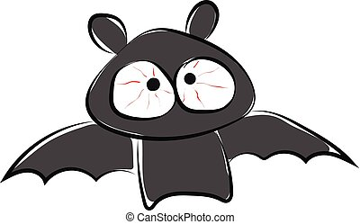 Image of bat, vector or color illustration. - A small ...