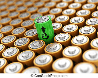 Image of Batteries background
