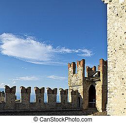 battlements - image of battlements of the castle
