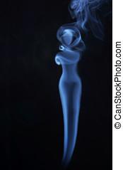 Image of beautiful lady made of fume